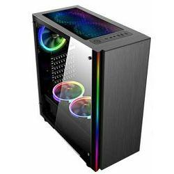 Gaming kućište NaviaTec Master multi-color LED, prozirna bočna stranica