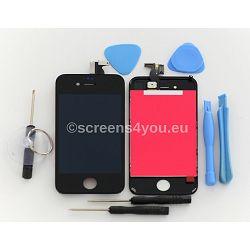 Zamjenski ekran i staklo osjetljivo na dodir za iPhone 4 u crnoj boji