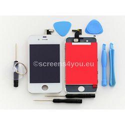 Zamjenski ekran i staklo osjetljivo na dodir za iPhone 4 u bijeloj boji