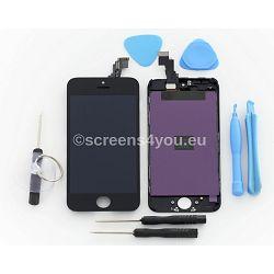 Zamjenski ekran i staklo osjetljivo na dodir za iPhone 5C u crnoj boji