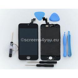 Zamjenski ekran i staklo osjetljivo na dodir za iPhone 5S u crnoj boji