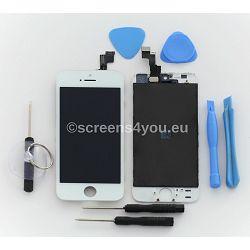 Zamjenski ekran i staklo osjetljivo na dodir za iPhone 5S u bijeloj boji