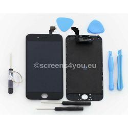 Zamjenski ekran i staklo osjetljivo na dodir za iPhone 6 u crnoj boji