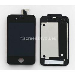 Zamjenski ekran i staklo osjetljivo na dodir za iPhone 4S + zadnja strana u crnoj boji