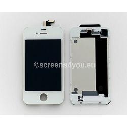 Zamjenski ekran i staklo osjetljivo na dodir za iPhone 4 + zadnja strana u bijeloj boji
