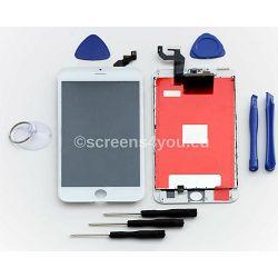 Zamjenski ekran i staklo osjetljivo na dodir za iPhone 6S PLUS u bijeloj boji