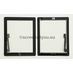 Generičko zamjensko staklo osjetljivo na dodir/touchscreen za iPad 3/4 u crnoj boji