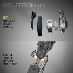 MS ENERGY e-romobil NEUTRON n3 Tamno Sivi + POKLON pametni sat
