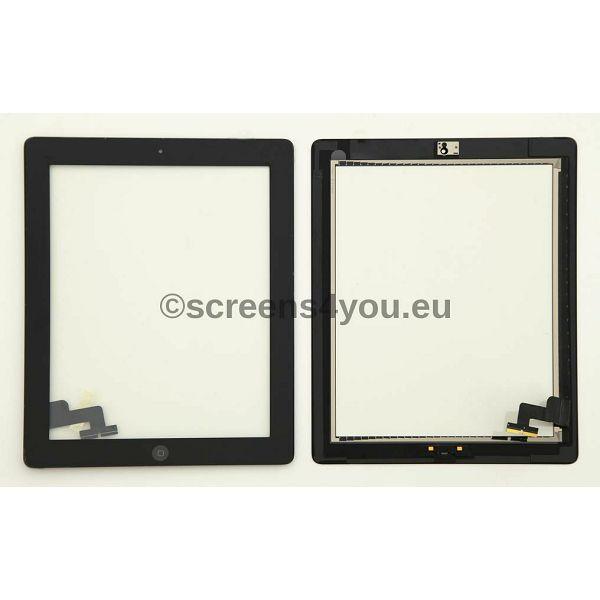 Generičko zamjensko staklo osjetljivo na dodir/touchscreen za iPad 2 u crnoj boji