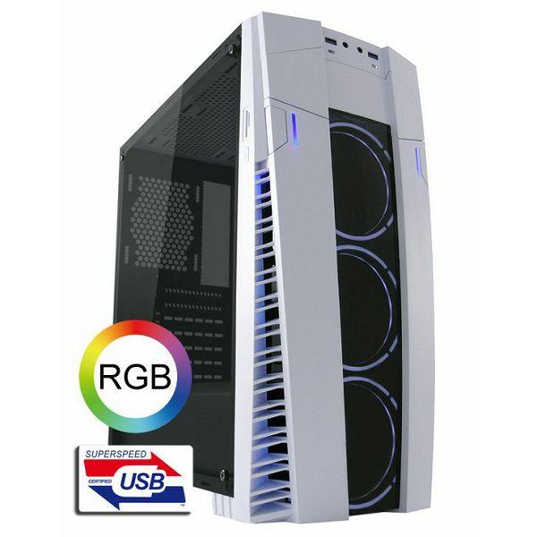 LC-Power 992W Solar flare bijelo/crno RGB gaming kućište